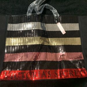 Victoria's Secret - Bling Sequence Canvas tote